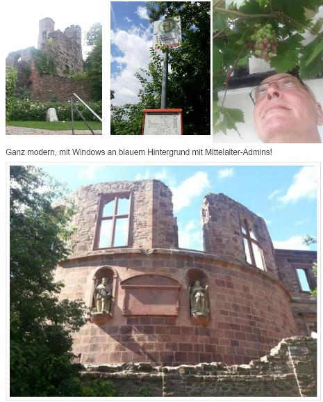 Ausflüge zum Dilsberg, Neuleiningen. soagr auf's Schloss..