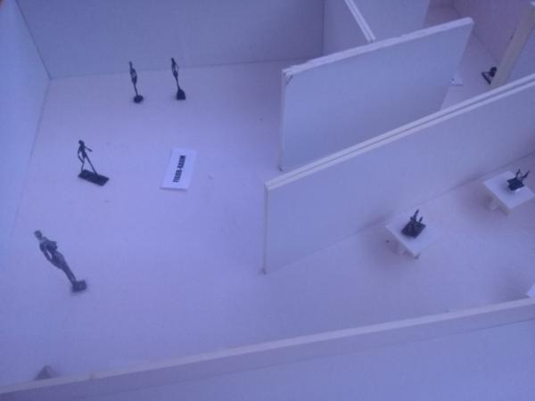 "Modell der Schirn zur Planung der Ausstellung "" Giacometti-Naumann"""