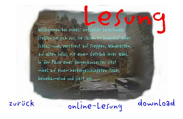 Screenshot der Online-Lesung