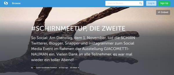 Screenshot Schirn-Storify